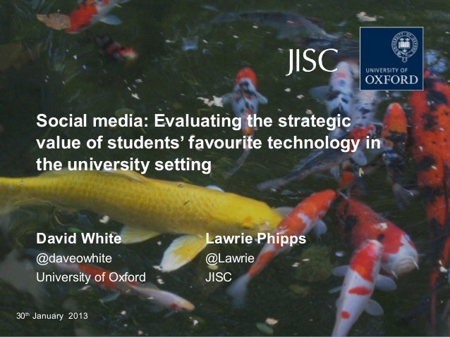 DEPARTMENT FOR CONTINUING EDUCATION      TECHNOLOGY-ASSISTED LIFELONG LEARNING    Social media: Evaluating the strategic  ...