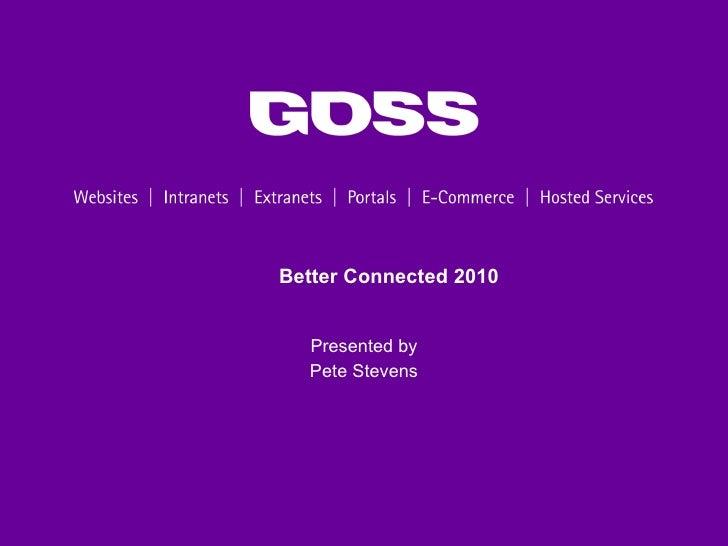 GOSS surpasses all in SOCITM Better Connected 2010