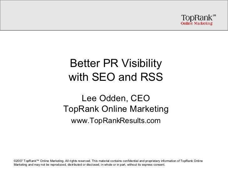 Better PR with SEO and RSS