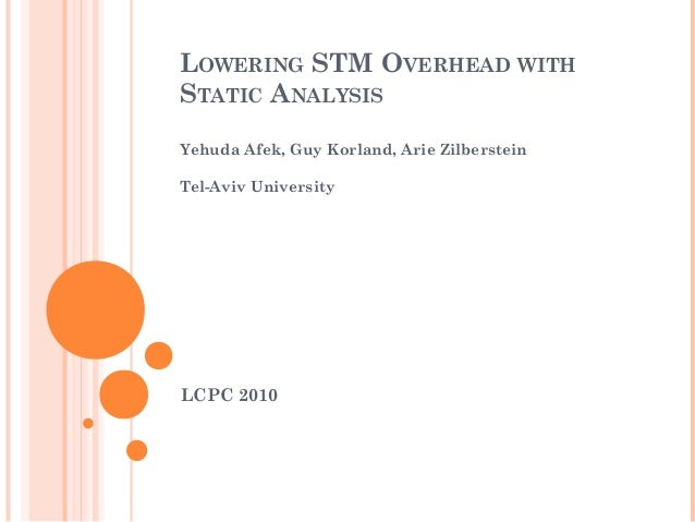 Lowering STM Overhead with Static Analysis