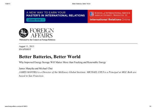 Better Batteries, Better World