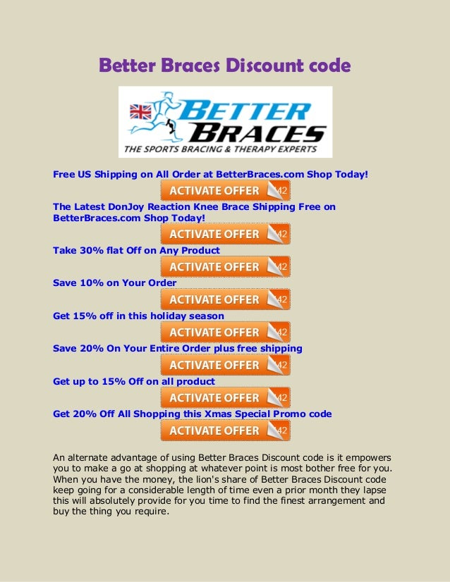 Better braces coupon