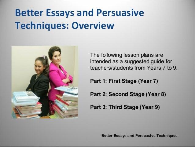 persuasive essay techniques examples