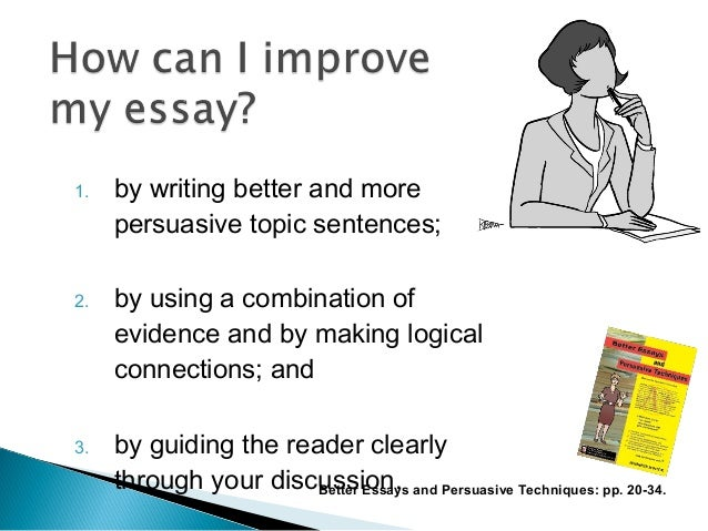 Writing better essays
