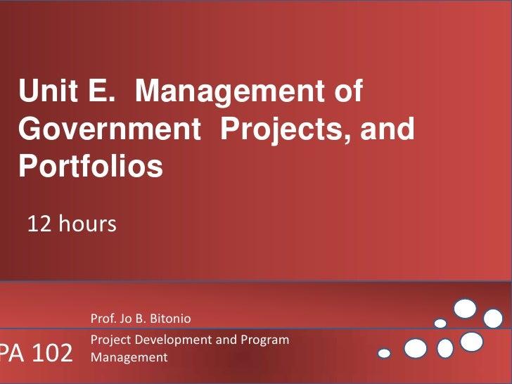 Better Governance of Government  Programs