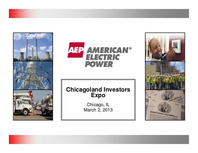 Chicagoland Investors        Expo      Chicago, IL     March 2, 2013