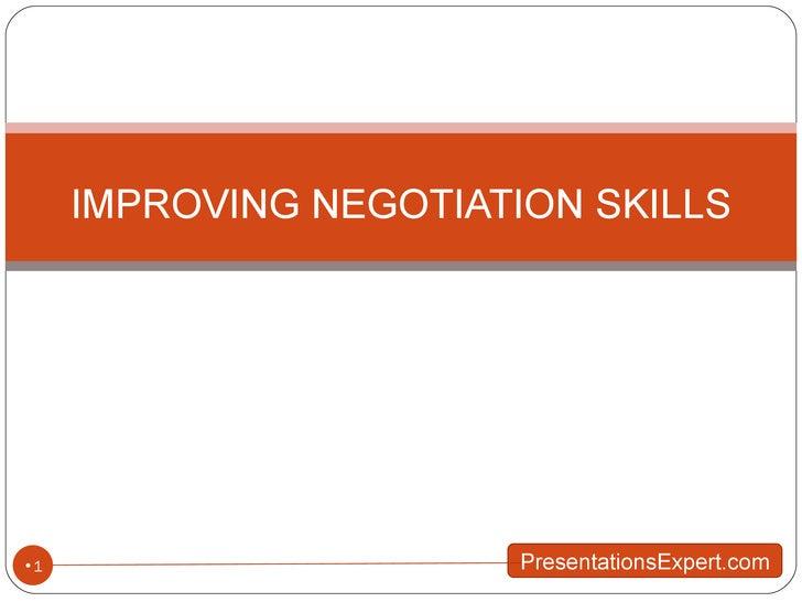 Better Negotioation