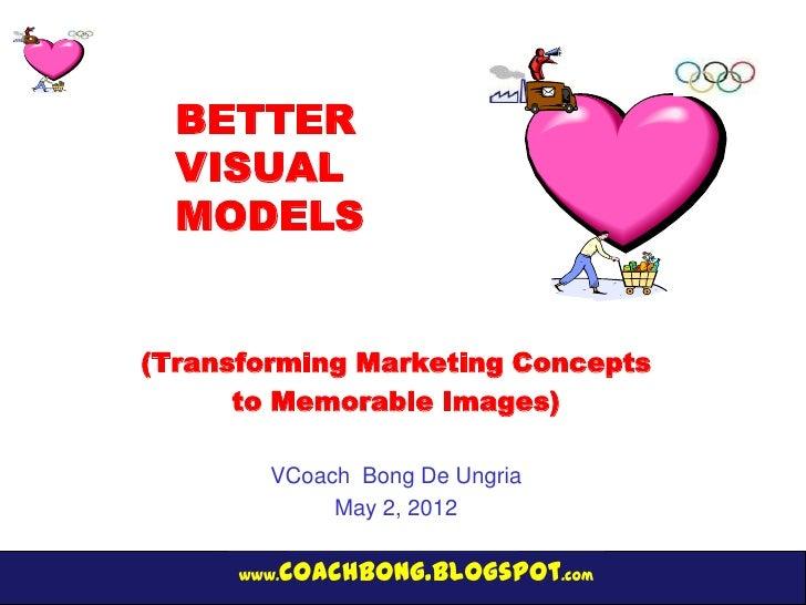 BETTER  VISUAL  MODELS(Transforming Marketing Concepts      to Memorable Images)         VCoach Bong De Ungria            ...
