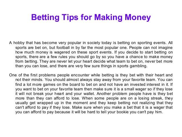 Betting Tips for Making Money
