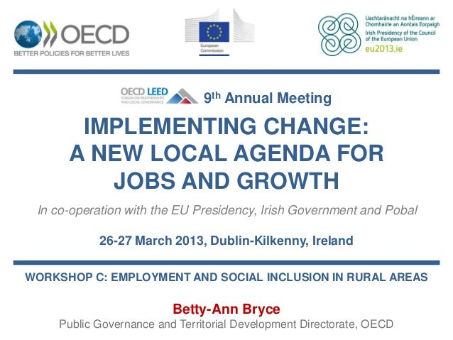 Betty-Ann Bryce - Increasing employment opportunities in rural areas
