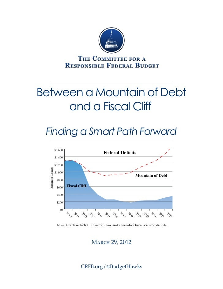 Between a Mountain of Debt     and a Fiscal Cliff Finding a Smart Path Forward                        $1,600              ...