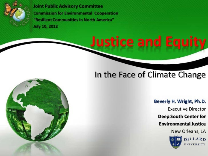 Beverly Wright: Justice and equity in the face of climate change