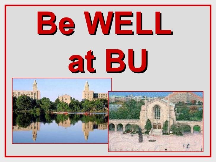 Be Well @ BU