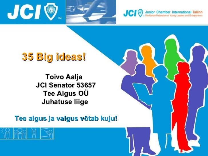 Toivo Aalja BeWise loeng TLY-s - 35 ideed aastaks 2012
