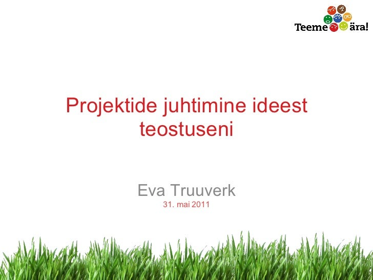 BeWise loeng TLÜ-s Eva Truuverk 31.05.11