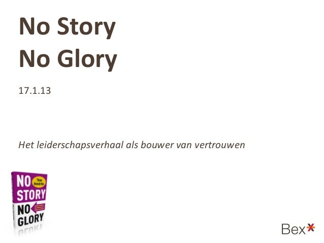 Bex*stage handout No Story No Glory - Theo Hendriks