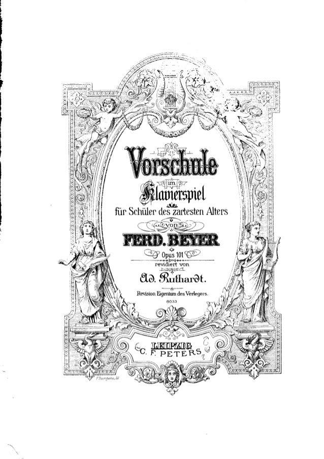 Beyer vorschule im klavierspiel op.101