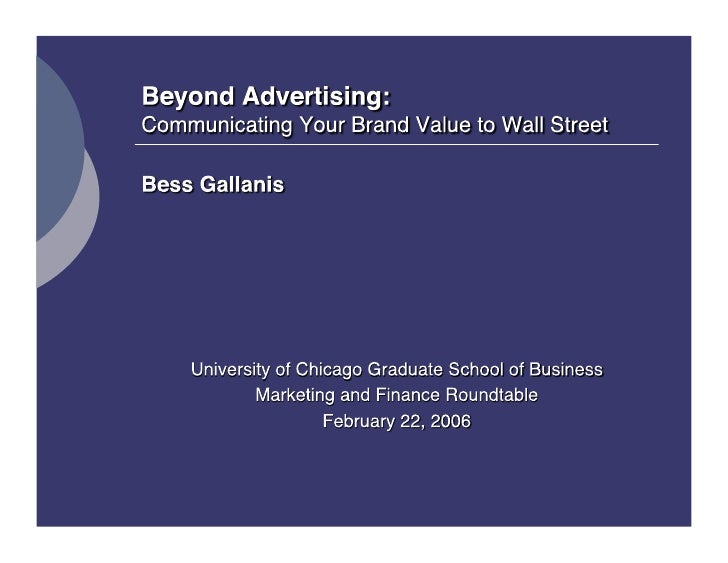 Beyond Advertising: The Value of Corporate Brand