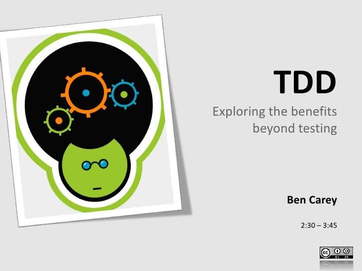 Beyond TDD