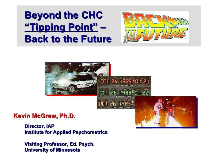 Part I:  Beyond the CHC tipping point:  Back to the future