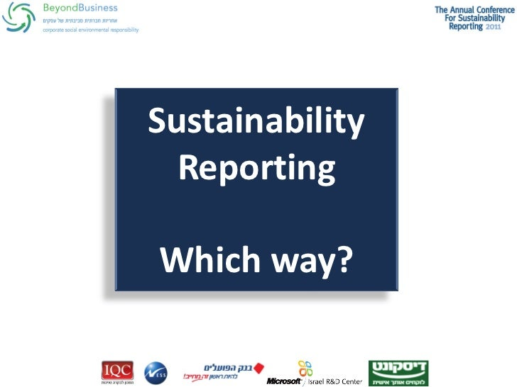 Sustainability  ReportingWhich way?