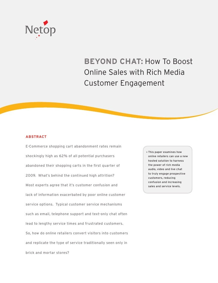 BEYOND CHAT: How To Boost                                   Online Sales with Rich Media                                  ...
