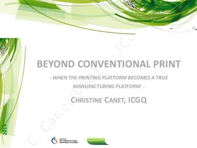 Printed electronics : Beyond conventional print!
