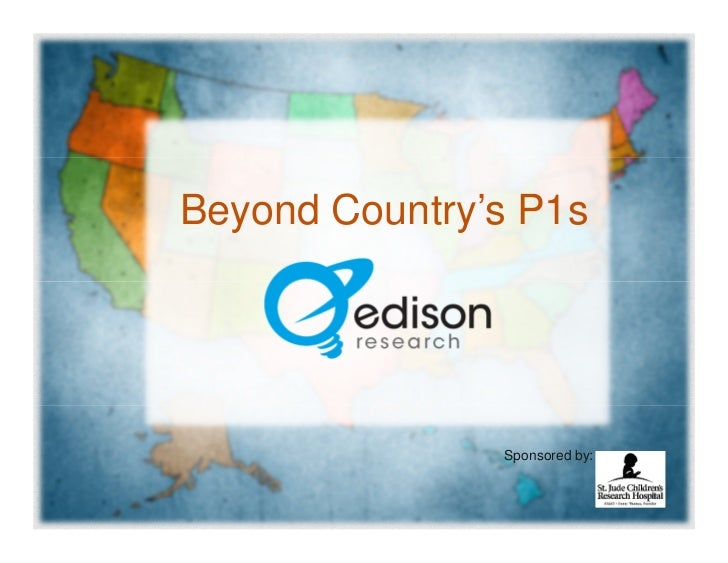 Beyond Country's P1s - Edison Research Presentation for CRS 2012