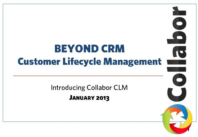 Beyond CRM - Customer Lifecycle Management
