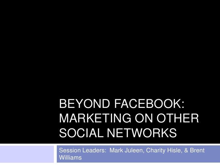 Beyond Facebook Part 1 - Optimization Summit