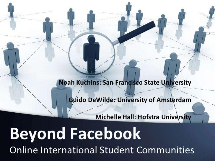 Noah Kuchins: San Francisco State University<br />Guido DeWilde: University of Amsterdam<br />Michelle Hall: Hofstra Unive...