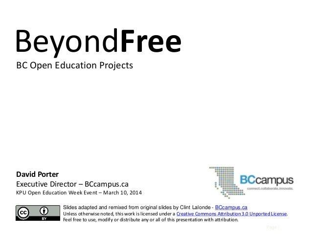 Beyond free v2