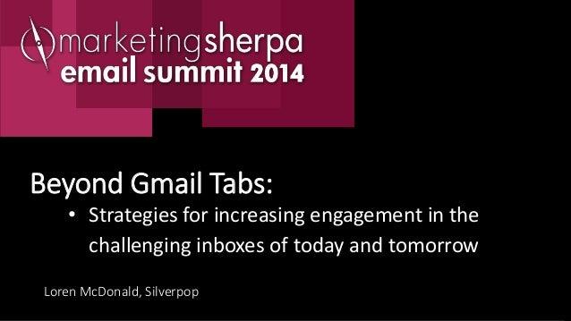 Beyond gmail tabs increasing email marketing engagement silverpop