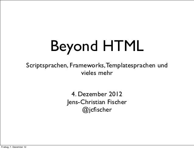 Beyond HTML Internet Briefing
