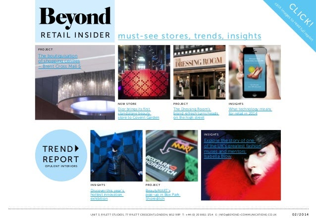 Page 1  cl k  ag  re  K  to  C  es  LI  im  C  ic  fu ll re po rt  must-see stores, trends, insights  !  ad  R E TA I L I ...