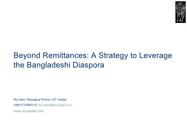 Beyond Remittances A Strategy To Leverage The Bangladeshi Diaspora