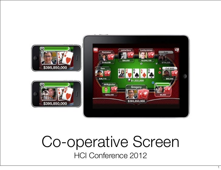 Co-operative Screen    HCI Conference 2012                          1