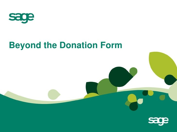 Beyond the Donation Form