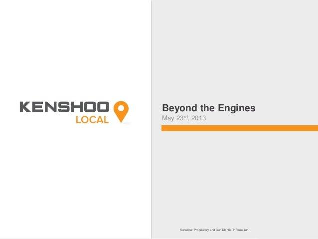 Searching Beyond the Engines - Kenshoo Local Webinar