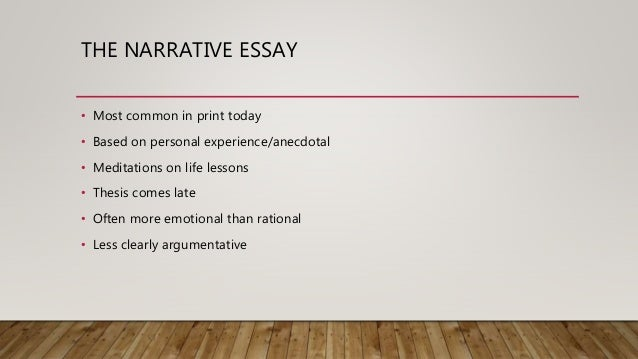 five paragraph essay narrative If you want to build a 5 paragraph personal narrative paper you can be proud of, feel free to read this aerticle that gives you some writing instructions.