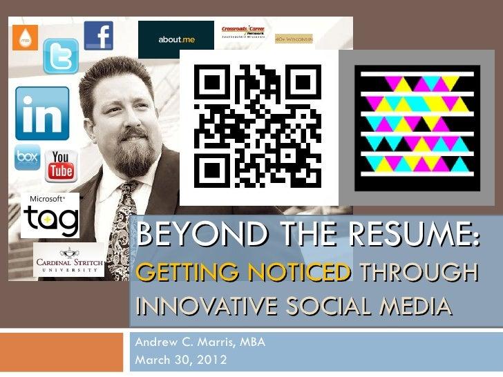 Beyond The Resume
