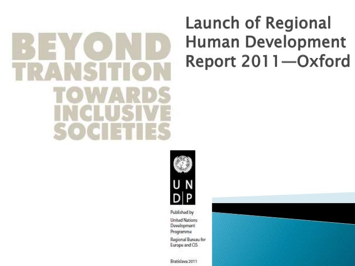 Launch of Regional Human Development Report 2011—Oxford<br />