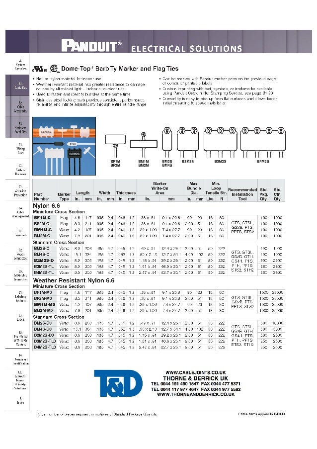 Panduit Dome-Top Barb Ty Marker & Flag Ties