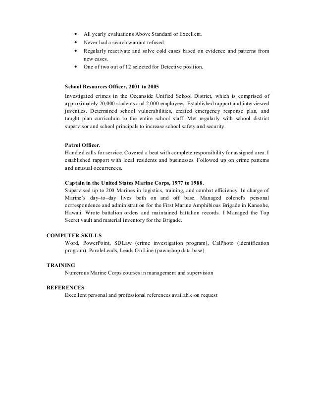 Detective And Criminal Investigator Cover Letter