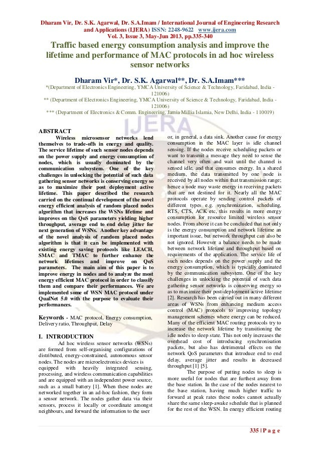 Dharam Vir, Dr. S.K. Agarwal, Dr. S.A.Imam / International Journal of Engineering Researchand Applications (IJERA) ISSN: 2...