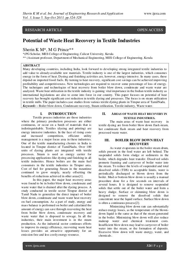 Sherin K M et al. Int. Journal of Engineering Research and Application www.ijera.com Vol. 3, Issue 5, Sep-Oct 2013, pp.324...