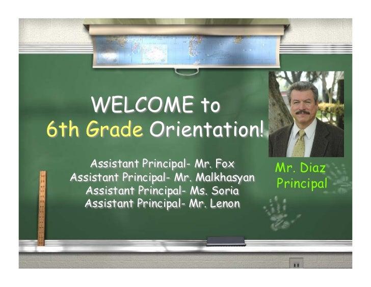 6th Grade Orientation for Parents