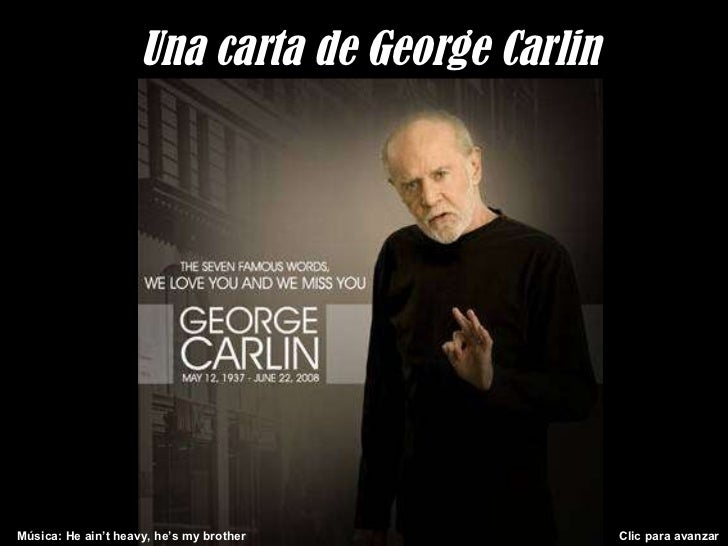 una carta de george carlin