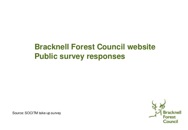 Bracknell Forest Council website Public survey responses Source: SOCITM take-up survey