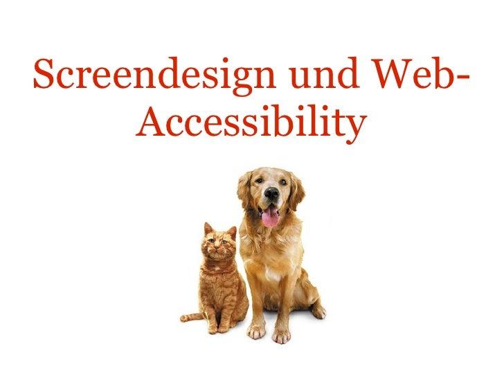 Screendesign und Web-Accessibility Katze und Hund